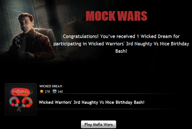Wicked Warriors Prize Grant